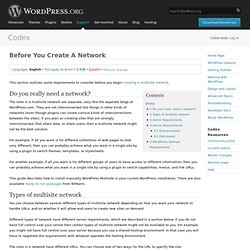 Before You Create A Network