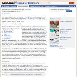 Open a brokers account
