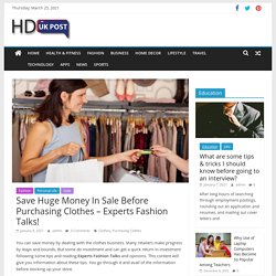 Save Huge Money In Sale Before Purchasing Clothes