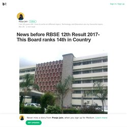 News before RBSE 12th Result 2017- This Board ranks 14th in Country