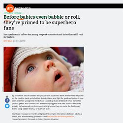Before babies even babble or roll, they're primed to be superhero fans