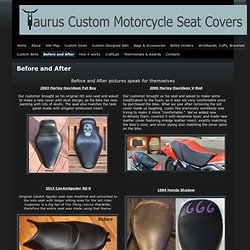 Before and After - Taurus Custom Motorcycle Seat Covers