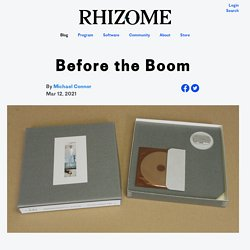 Before the Boom