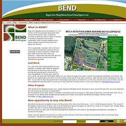 Bega: BEND - Bega Eco-Neighbourhood Developers