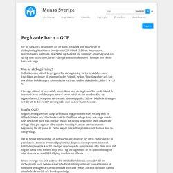 Begåvade barn – GCP - Vad vi gör - Mensa Sverige - Mensa Sverige - Mensa Sverige