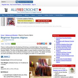 Beginner Squares Afghan