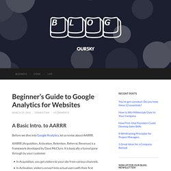 Beginner's Guide to Google Analytics for Websites - Oursky Blog