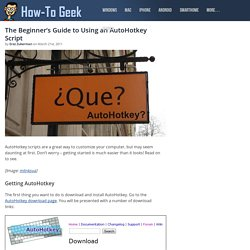 The Beginner's Guide to Using an AutoHotkey Script