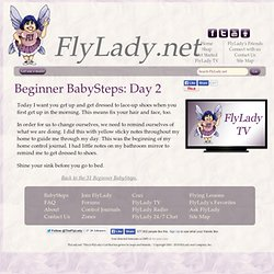 Beginner BabySteps: Day 2 | FlyLady.net