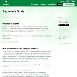 A Beginner's Guide to BitTorrent - Videos & Guides - Help - µTorrent
