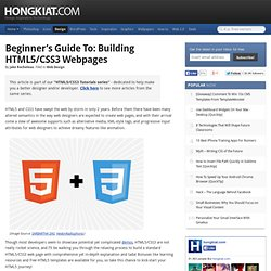 Beginner's Guide To: Building HTML5/CSS3 Webpages