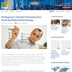 The Beginner's Checklist to Planning Your Social and Digital Media Strategy