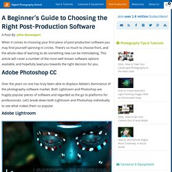 A Beginner's Guide to Choosing the Right Post-Production Software