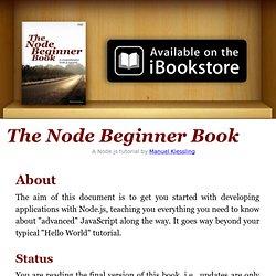 Node JS Begginer Book