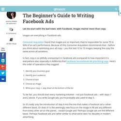 The Beginner's Guide to Writing Facebook Ads | Copywriting For Start-ups And Marketers
