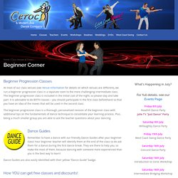 Beginner Corner - Ceroc and Modern Jive Dance Company