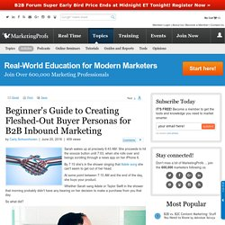 Sales - Beginner's Guide to Creating Fleshed-Out Buyer Personas for B2B Inbound Marketing