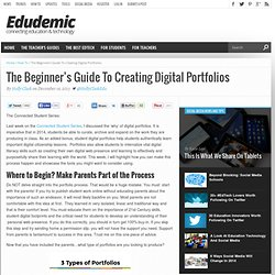 The Beginner's Guide To Creating Digital Portfolios
