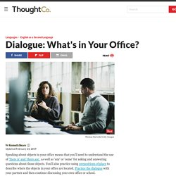 ESL Beginner Dialogue—What's in Your Office?