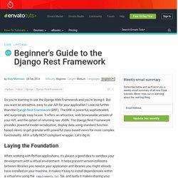 Beginner's Guide to the Django Rest Framework