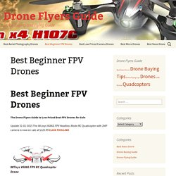 Best Beginner FPV Drones First Person View Drones