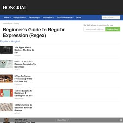 Beginner's Guide to Regular Expression (Regex) - Hongkiat