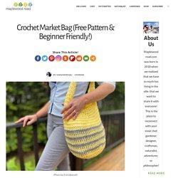 Crochet Market Bag (Free Pattern & Beginner Friendly!) - Maplewood Road
