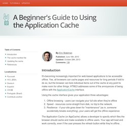 A Beginner's Guide to Using the Application Cache
