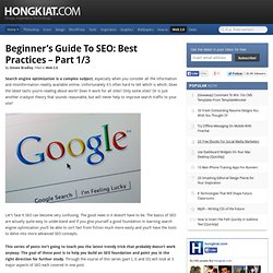 Beginner's Guide to SEO: Best Practices – Part 1/3 | Web 2.0