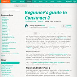 Beginner's guide to Construct 2