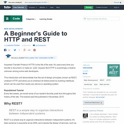 A Beginner's Introduction to HTTP and REST