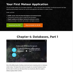 A Beginner's Guide to MongoDB & Meteor, Part 1