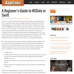 A Beginner's Guide to NSDate in Swift
