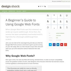 A Beginner's Guide to Using Google Web Fonts