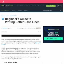 Beginner's Guide to Writing Better Bass Lines