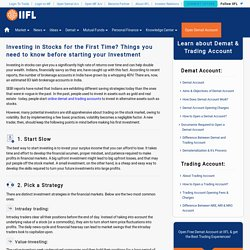 Beginner's Guide to Invest in the Stock Market – India Infoline