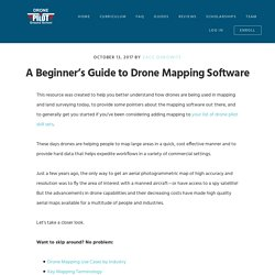 A Beginner's Guide to Drone Mapping Software