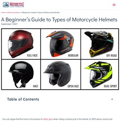 A Beginner's Guide to Types of Motorcycle Helmets