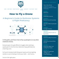 How to Fly a Drone: A Beginner's Guide to Multirotor Systems