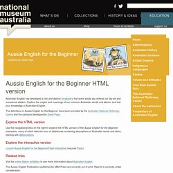 Aussie English for the Beginner HTML version