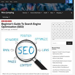 Beginner's Guide To Search Engine Optimization (SEO) - Nice Jumping