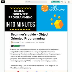 Beginner's guide - Object Oriented Programming