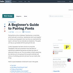 A Beginner's Guide to Pairing Fonts