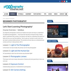 Free Digital Photography Courses, Lessons, and Tutorials