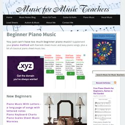 Beginner Piano Music for Kids