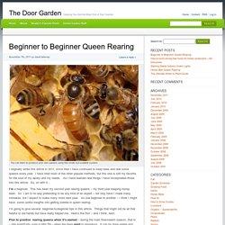 Beginner to Beginner Queen Rearing