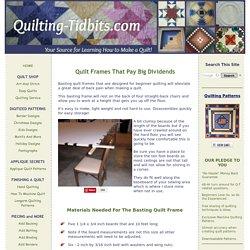 Quilt Frames for Beginner Quilting using a Basting Gun