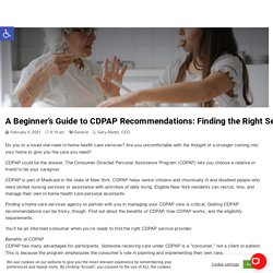 Beginners Guide To CDPAP Recommendations