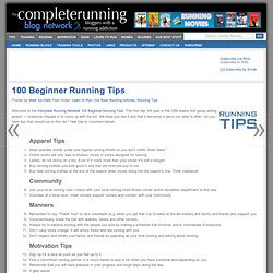 100 Beginner Running Tips
