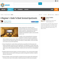 A Beginner's Guide To Book Serviced Apartments